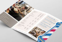 Barber Shop Tri-Fold Brochure Template In Psd, Ai & Vector with regard to Business Service Catalogue Template