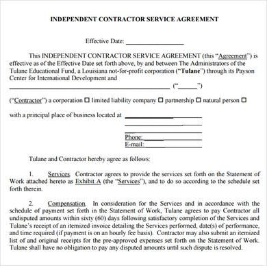 Basics To Make Your Own Service Agreement Template with regard to How To Make A Business Contract Template