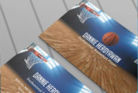 Basketball Business Card Psd Theme | Business Card Psd In Business Card Size Template Psd