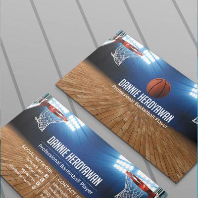 Basketball Business Card Psd Theme   Business Card Psd In Business Card Size Template Psd