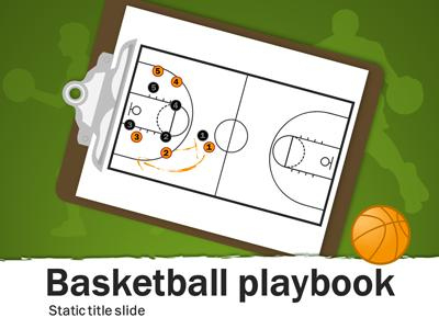 Basketball Playbook - A Powerpoint Template From inside Business Playbook Template