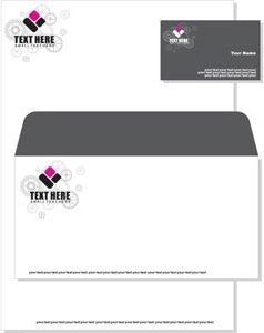 Beautiful Doted Loto On Letterhead And Visiting Card Free for Best Business Envelope Template Illustrator