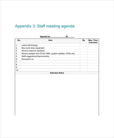 Best 5+ Staff Meeting Agenda Template Word - You Calendars throughout Meeting Agenda Sample Template Free
