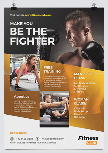 Best Fitness Business Flyers For Gym Marketing - Hollymolly! for Business Plan Template For Gym