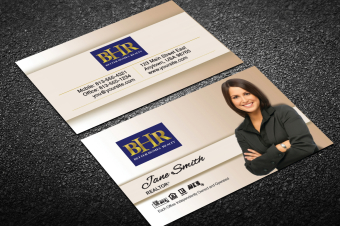 Better Homes Realty Business Card Templates   Free inside Best Real Estate Agent Business Card Template