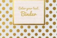 Binder Covers   Binder Cover Templates, Custom Binder Covers Within Business Binder Cover Templates