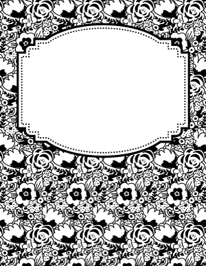 Black And White Flower Binder Cover | Binder Cover for Fresh Business Binder Cover Templates