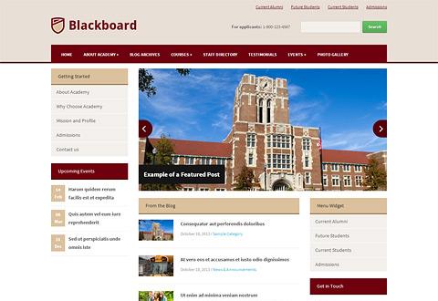 Blackboard - WordPress Theme For Schools & Colleges inside Fresh WordPress Business Directory Template