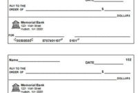 Blank Check Template | Blank Check, Printable Checks throughout Blank Business Check Template