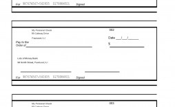 Blank Check Template For Excel ~ Addictionary in Fresh Blank Business Check Template Word