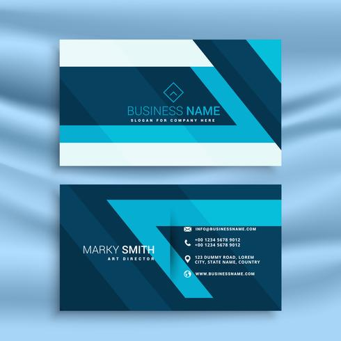Blue Abstract Business Card Id Template - Download Free in Business Card Powerpoint Templates Free