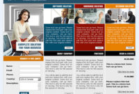 Blue Chip Css Template – 0419 – Clean & Corporate intended for Template For Business Website Free Download