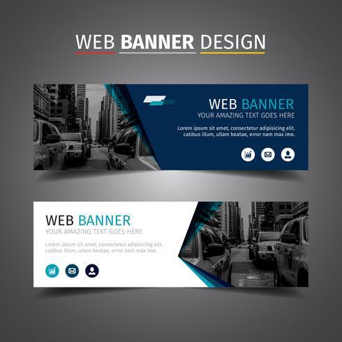 Blue Elegant Business Banner - Download Free Vectors for Fresh Professional Website Templates For Business