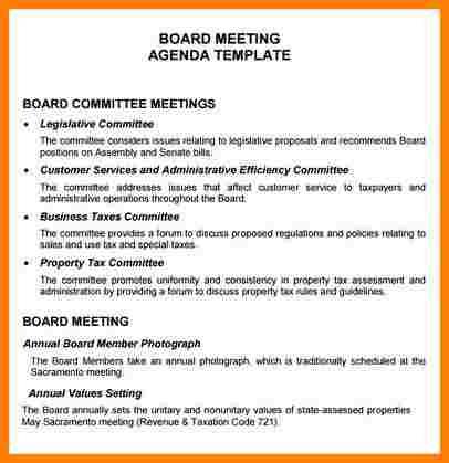 Board Meeting Agenda Template | Shatterlion within Committee Meeting Agenda Template
