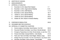 Board Of Directors Meeting Agenda Template - Fill Out intended for Non Profit Meeting Agenda Template