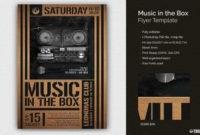 Boombox Flyer Template Club Psd Design 100% Customizable inside Best Free Dance Studio Business Plan Template