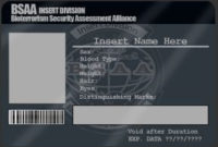 Bsaa Id Card Templatemangapip   Business Card Template for Blank Business Card Template Photoshop