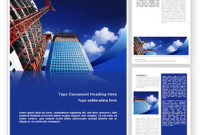Building Company Letterhead Template, Layout For Microsoft for Business Profile Template Free Download