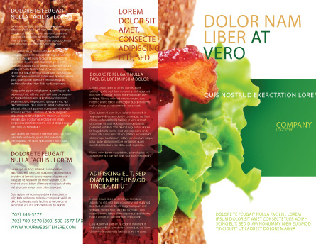 Burger Brochure Template Design And Layout, Download Now regarding Free Poultry Business Plan Template