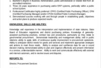Business Administration Job Description Sample | Master Of intended for Best Business Management Contract Template