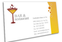 Business Card Design For Restaurant In Bar Offset Or in Fresh Restaurant Business Cards Templates Free