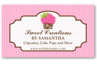 Business Card Showcasesocialite Designs: Cupcake Intended For Cake Business Cards Templates Free