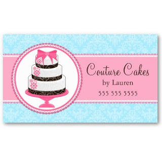 Business Card Showcasesocialite Designs: Gourmet Cake With Cake Business Cards Templates Free