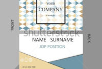Business Card Template, Geometric Pattern Vector Design within Best Free Editable Printable Business Card Templates