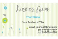 Business Card Template Word Blank – Business Card pertaining to Free Blank Business Card Template Word