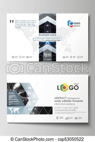 Business Card Templates. Easy Editable Layout, Abstract with regard to Best Free Editable Printable Business Card Templates