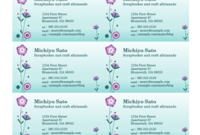 Business Cards (Flower Illustration, 10 Per Page) | Free with Unique Free Template Business Cards To Print