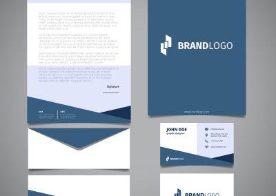 Business Cards, Letterhead & Envelopes - Designsva for Business Card Letterhead Envelope Template