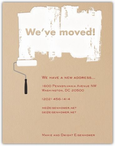Business Change Of Address Announcements - Google Search in Fresh Email Business Card Templates