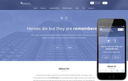 Business Co A Corporate Multipurpose Flat Bootstrap with regard to New Bootstrap Templates For Business
