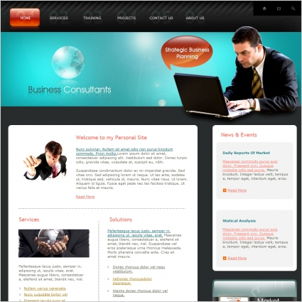 Business Consultants Template Free Website Templates In pertaining to Business Plan Template For Consulting Firm