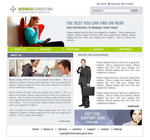 Business Consulting Website Template - 0444 - Clean for Business Plan Template For Consulting Firm