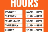 Business Hours Flyer Templates – Musthavemenus Inside New Printable Business Hours Sign Template