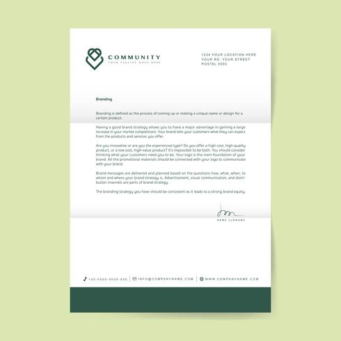 Business Letterhead Sample Design Template - Download Free with regard to Free Online Business Letterhead Templates