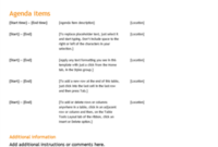 Business Meeting Agenda (Orange Design) throughout Financial Meeting Agenda Template