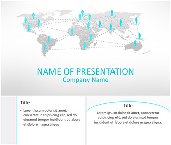 Business Network Powerpoint Template - Templateswise inside Ppt Presentation Templates For Business