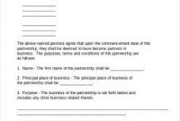 Business Partnership Agreement Template | Template Business regarding Contract For Business Partnership Template