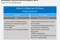 Business Process Improvement Powerpoint Template regarding Business Process Catalogue Template