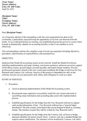 Business Proposal Letter (5 Pages) - Small Business Free Forms inside Unique Business Partnership Proposal Letter Template