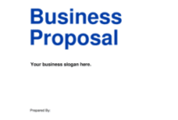 Business Proposals – Download Templates | Business-In-A-Box™ with regard to Business Idea Template For Proposal
