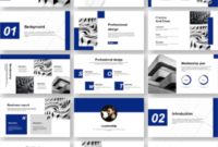 Business Report & Clean Style Powerpoint Template regarding Business Plan Template Powerpoint Free Download