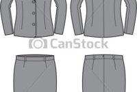 Business Suit. Vector Illustration Of Women'S Business for Best Business Attire For Women Template