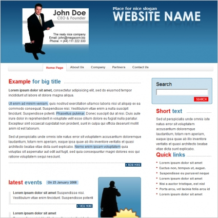 Business Template Free Website Templates In Css, Html, Js regarding Website Templates For Small Business