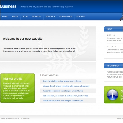 Business Template Free Website Templates In Css, Html, Js throughout New Website Templates For Small Business