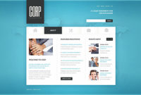 Business Website Template Page 1 Photoshop Screenshot for New Website Templates For Small Business