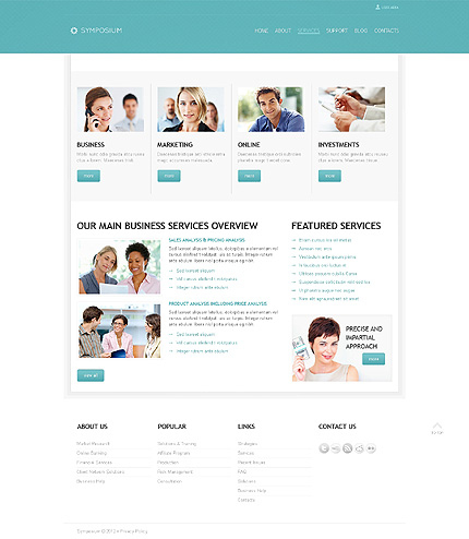 Business Website Template Page 2 Photoshop Screenshot with regard to New Website Templates For Small Business